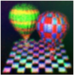 作製されたデバイスによる立体映像表示(出所:スインバン大学)
